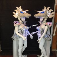Wholesale Wholesale Singer Stage Wear - AS98-2 Lady men Catwalk wears Singer Cosplay stage Colorful LED light ballroom costumes party dance Bar dj disco suit show cloth