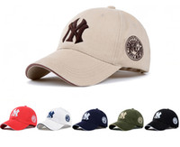 Wholesale Cotton Khaki Baseball Caps - 11 Color Yankees Hip Hop MLB Snapback Baseball Caps NY Hats MLB Unisex Sports New York Adjustable Bone Women casquette Men Casual headware