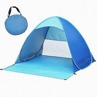 Gros-Portable Outdoors Automatique Ouverture Pop Up Instant Rapide Cabana Plage Tente Sun Shelter Protection UV Camping Outils B2Csh
