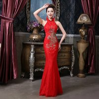 Wholesale model dress cheongsam - Shanghai Story Vintage Bridesmaid evening dresses fashion mermaid qipao dress Chinese Cheongsam dress sexy apparel the style