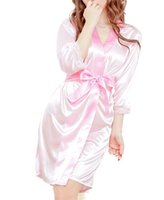Wholesale Lingerie For Round Women - Wholesale-Clothes 2015 Women Fashion Classic Bathrobe Pure Role-playing Sexy Lingerie Wild Temptation for lady sleepwear