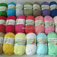 Wholesale Needle Colored - 500g 10Pcs Soft Smooth Natural Bamboo Cotton Hand Knitting Yarn Baby Cotton Yarn Knitted By 2.25mm Needles free shiping