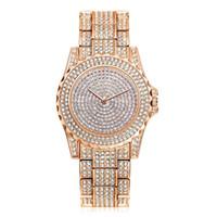 reloj de aleación de diamantes al por mayor-Mujeres unisex de moda para hombre de aleación de lujo reloj de diamantes de metal al por mayor señoras vestido de fiesta de cuarzo relojes de pulsera 02