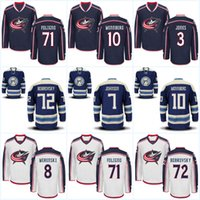Columbus Blue Jackets Jerseys Youth 72 Sergei Bobrovsky 71 Nick Foligno 8 Zach Werenski 17 Brandon Dubinsky 3 Seth Jones Maglie di hockey