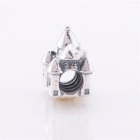 Wholesale Fine Baby Jewelry - Castle Jewellery charms 925 sterling silver jewelry charm pendant Fit bracelet Diy Christmas gift to baby mom fine jewelry LW393