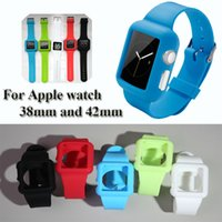 Para iWatch Watchband flexível moda clássica de borracha de silicone de borracha 38 milímetros 42 milímetros Soft TPU banda para Apple Watch Strap Top Quality