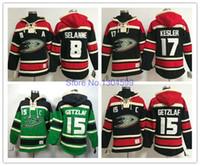 Wholesale Paul Hoodies - 2016 New, Anaheim Ducks Ice hoody Hockey Jersey Mighty Ducks Teemu Selanne Jersey Paul Kariya Jersey Ice Hockey Hoodies  Hooded Sweats