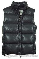 Wholesale Men Fashion Luxury Vest - Winter Down Vest Men Brand Designer Fashion Warm Vests Luxury Design Waistcoat Outdoor Sleeveless Coat Plus Size Cheap Sale
