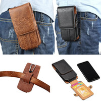 Wholesale Belt Buckle Covers - Universal Wallet Pouch for Iphone X iphone 8 7 6 6s plus galaxy s7 P9 S8 note8 leather Belt pouch cover defender case buckle GSZ401