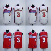Wholesale Mike Knight - Mens Cambridge Like Mike Knights TV Jersey 100% Stitched Throwback Basketball Jerseys White Red High Quality Fast Shipping