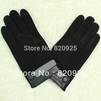 Wholesale Velvet Touch Screen Gloves - Wholesale-Free Shipping 1 Pair Plus Velvet Thermal Winter Capacitive Screens Touch Winter Gloves