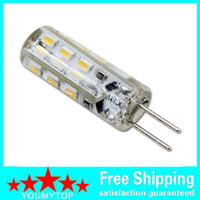 Wholesale High quality Dimmable G4 Led V Leds Chip Silicon Lamp DC12V Crystal Corn Light W Bulb Lighting
