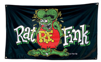 Wholesale Sale Products - Hot sale products RAT FINK flags customized flags with four metal grommets 100D polyester custom decoration banners