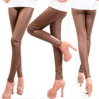 Wholesale Lady S Boots - Fashion 2014 Wholesale Faux Leather Leggings For Women Lady Leggins Pants New Sexy Leather Boots Pants DP852111
