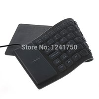 Gros-85-Key USB 2.0 Silicone Pliable PC Computer Wired Keyboard -gris