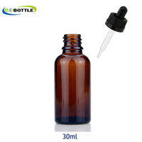 Wholesale 15ml Amber Dropper Bottle - 30ml amber Glass dropper bottles with childproof cap and tip dropper,essential oil glass bottle cosmetics packing 5ml 10ml 15ml 20ml 50ml
