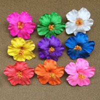 Wholesale Hibiscus Flower Jewelry - Flower 12 Pcs Hula Girls Original Soundtrack Foam Hawaiian Flower Hibiscus Bridal Hair Clip 9cm You Pick Flower Jewelry