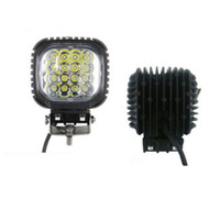 Wholesale Led Off Road Light Square - 48W LED Work Light Lamp 16X3W LED light for Jeep Truck Tractor Boat Off Road ATV spot flood beam led fog work light