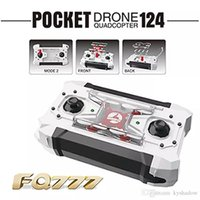 Wholesale Rc Mini Helicopter Free Shipping - 2016 Free Shipping Drone FQ777 124 Micro Pocket Drones 4CH 6Axis Gyro Switchable Controller Mini Quadcopter RTF RC Helicopter Kids Toys