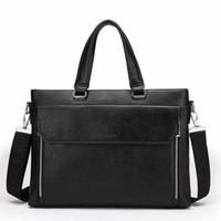 Wholesale clear briefcase resale online - high quality men s briefcase bag men bags pu leather fashion design messenger bag men new arrival