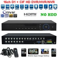 Wholesale H 264 Standalone Network Dvr - 4ch 8ch 16ch 1080P HDMI H.264 Standalone Digital DVR Video Recorder Security Surveillance System Free Cloud Services Real-time Network DVR