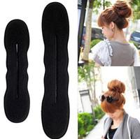 Wholesale Magic Foam Sponge Clip Hair - 2015 newest Magic hair clip Sponge Bun Clip Maker Former Foam Twist Hair styling accessory Hair bun maker DHL FREE