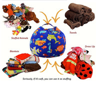 Wholesale Animal Print Mat - 43 Styles 24inch 60cm Baby Kids Storage Bean Bags Plush Toys Beanbag Chair Bedroom Stuffed Animal Room Mats Portable Clothes Storage Bag