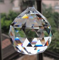 AAA Qualidade 100mm K9 Clear Color Crystal Faceted Ball Esferas Chandelier Replacement Garland Pendants