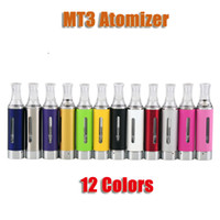 Wholesale Ego Mt3 Cartomizer - EVOD MT3 2.4ml Atomizer Cartomizer Clearomizer for eGo Evod Carbon Vision spinner 2 3 Battery Electronic Cigarette colorful