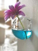 glas garten ornamente großhandel-Glas Blumentöpfe Pflanzgefäße Dekorative Vasen Wandbehang Vase Glastopf Dekoration Garten Ornamente Stifthalter DIY Topf