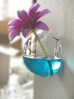 ingrosso ornamenti da giardino di vetro-Vasi da fiori in vetro Fioriere Vasi decorativi Vaso da parete Vaso di vetro Decorazione della casa Ornamenti da giardino Portapenne Vaso fai da te