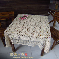 Wholesale Hot selling cotton hand knitting Crochet tablecloth x140cm Table cover table cloth