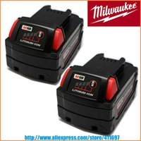 Wholesale Milwaukee Volt Battery - 2 x New for MILWAUKEE 18V 18 VOLT M18 48-11-1828 RED LITHIUM XC BATTERY PACKS order<$18no track