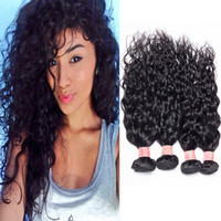Wholesale 5a virgin hair pcs for sale - 10 inch water Wave g A Peruvian Hair brazilian hair indian hair Malaysian Virgin Hair Human Hair Weave Bundles