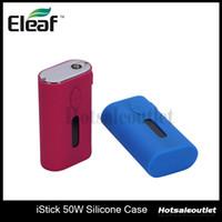 istick fälle großhandel-Eleaf ismoka istick 50W Silikonhülle für istick 50W Battery 100% Original New Arrivals
