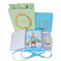 Wholesale Macaron Gift - Alloy Gold Plated France LADUREE Macaron Effiel Tower Keychain Fashion Keyring Key Chain bag charm accessories w gift box and handbag