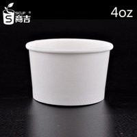 Wholesale Ice Cream China - 2015 New Arrival Cheapest 4OZ disposable white color ice cream paper cups 100pcs Made in China For Sale Free Shipping