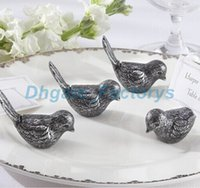 DHL Freeshipping 100 unids Antiqued amor Bird Place Card Holder wedding party mesa decoración nupcial favor de la ducha favorece regalo