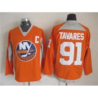 Islanders # 91 Tavares Orange Hockey Jerseys Mais Vendidos Hockey Uniform Cheap Hockey Veste Todo Estilo Best Selling usa para venda