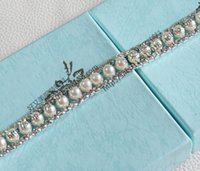 Wholesale Close Trimmer - free shipping 50cm pack fashion high-quality pearl trims 1.2cm clear crystal rhinestone close chain costume garment decoration