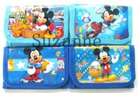 Wholesale Wallet For Birthday Gift - Wholesale 24pcs Mickey logo Cartoon wallet For Kids With Kid Purse Wallets Children Birthday Gift