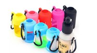 Wholesale E Liquid Keychain - Colorful E-liquid Bottle Silicone Carrying Case Silicone Flask Case Cover for E-liquid Esstential Oil with Keychain for Outdoor Sports