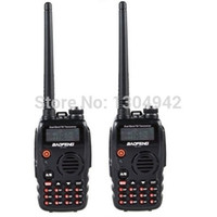 Wholesale-2-PCS New Black BAOFENG UV-A52 Walkie Talkie dual band VHF UHF 136-174MHz400-520 MHz Radio bidirezionale con spedizione gratuita