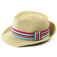 Wholesale Womens Red Fedora Hat - Wholesale-2015 Summer Straw Hat Cap Womens Sun Hats And Caps Panama Hat Fedora Free Shipping