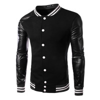 Wholesale Korean Baseball Hoodie - 2015 Autumn Korean new arrive Men's outwear men's jacket fashion Splice Men's sweater Baseball coat men's Hoodies black 4240