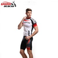 Wholesale Cycling Clothing Acacia - Wholesale-Acacia Summer Ciclismo Cycling Jersey Clothing Motocross Suit Bike Boys Cycling Clothes Red Black White Cycling Short Set 02015