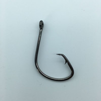 50pc 7381 Fishing Hooks Black Color Octopus Circle Sport Circle Fish Hook Jig Big 1# 1 0# 2 0# 3 0# 4 0# 5 0# Size Bass