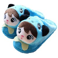 Wholesale Inflatable Plush Toys - Wholesale-Children'S Cartoon Panda Plush Toys Head Doll Head Slippers Winter Cotton Slippers Factory Direct Inflatable Bottom TCCS6028