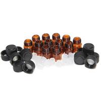 essential oil amber bottles achat en gros de-1ml (1/4 dram) Tubes d'échantillons de parfum en verre ambré Bouteille d'huile essentielle avec bouchon et bouchon 5/8 dram