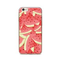 Wholesale Iphone 4s Watermelon Cases - Wholesale For iPhone 4 4S 5 5S 5C 6 6S 6Plus Of Light Icy Triangle Watermelon Of Skin TPU Silicone Gel Protective Cover